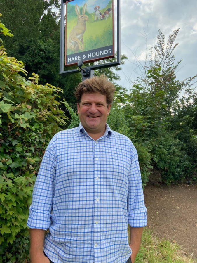 Tim Steel, landlord, The Hare & Hounds, Wardington